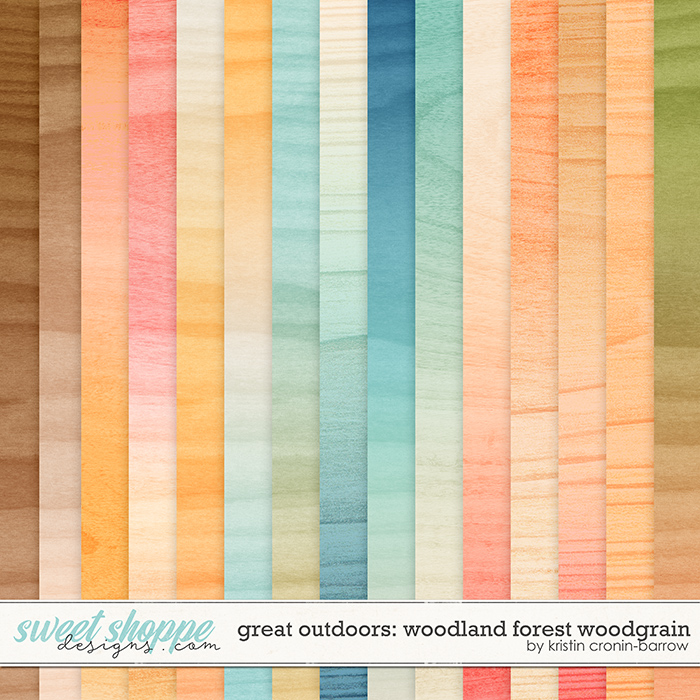 Great Outdoors: Woodland Forest Woodgrain by Kristin Cronin-Barrow