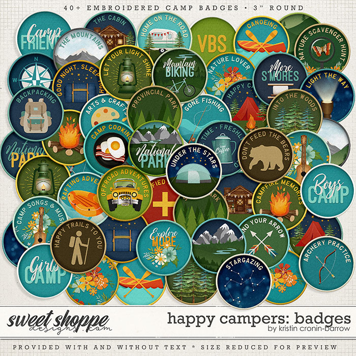 Happy Campers: Badges by Kristin Cronin-Barrow