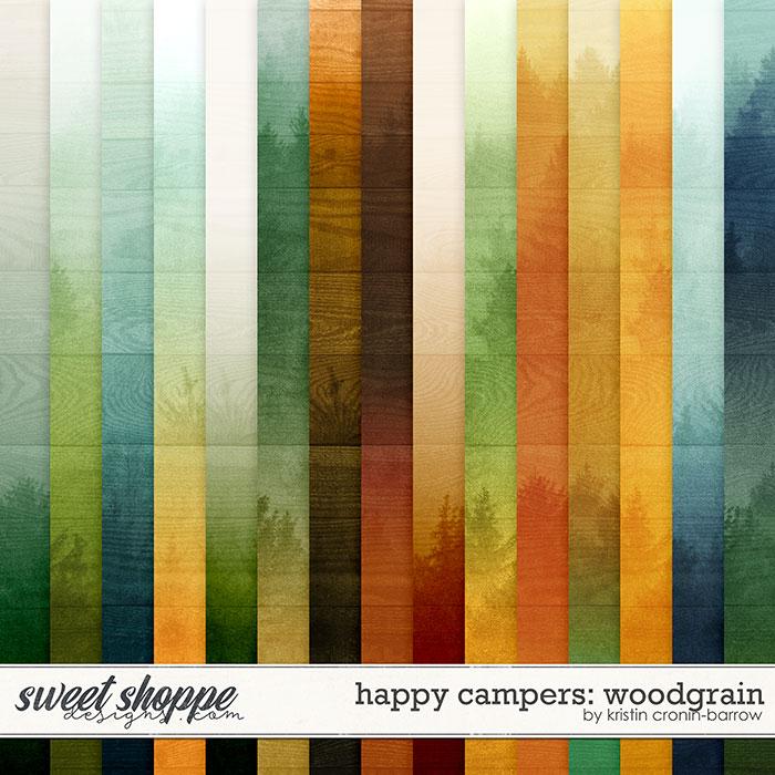 Happy Campers: Woodgrain by Kristin Cronin-Barrow