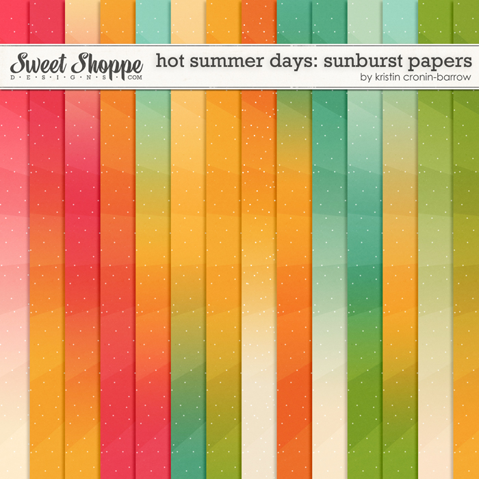 Hot Summer Days: Sunburst Papers by Kristin Cronin-Barrow