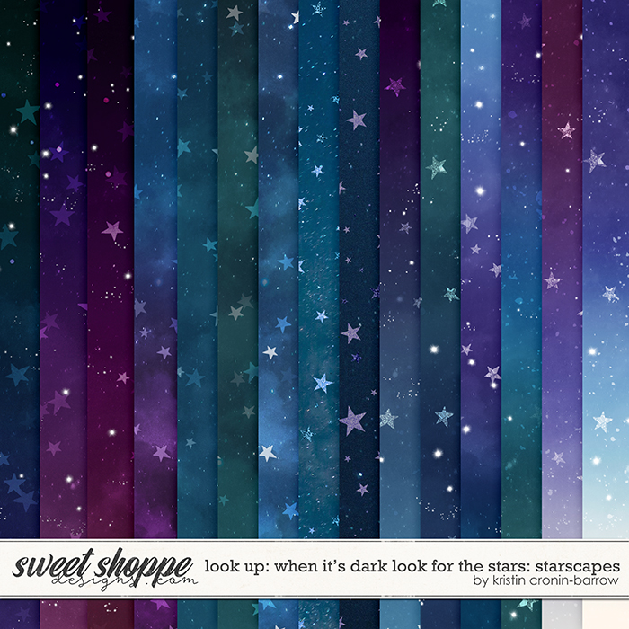 Look Up: When it's Dark look for Stars Starscapes by Kristin Cronin-Barrow
