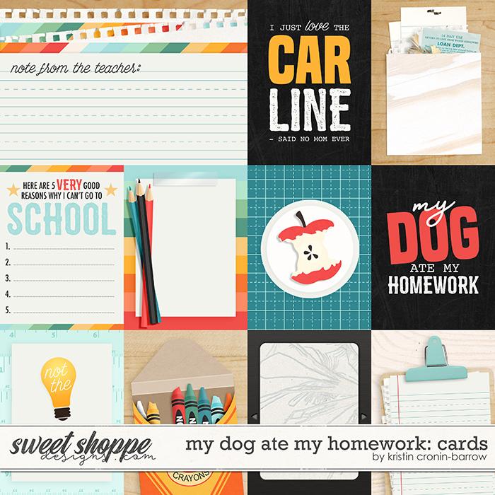 my dog ate my homework: cards by Kristin Cronin-Barrow