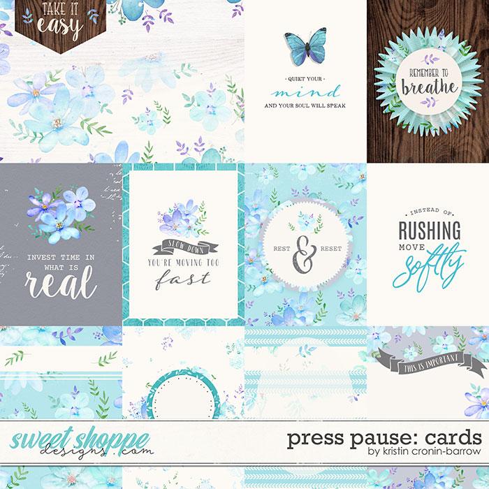 Press Pause: Cards by Kristin Cronin-Barrow
