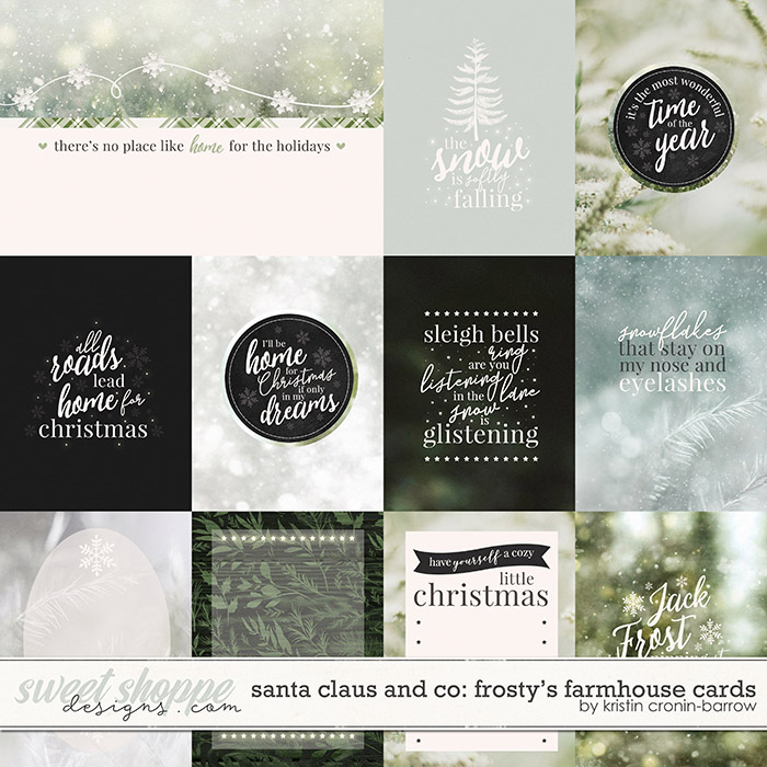 Santa Claus and Co: Frosty's Farmhouse Cards by Kristin Cronin-Barrow