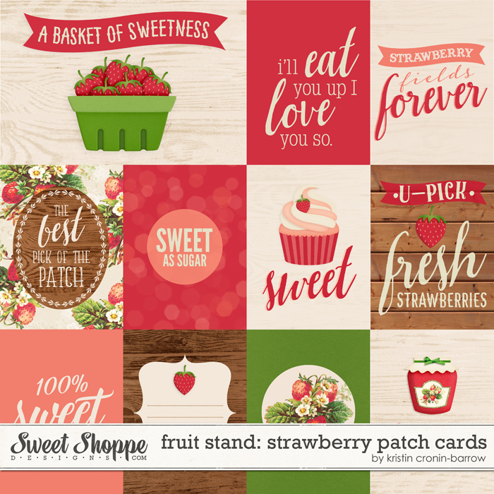Fruit Stand: Strawberry Patch Cards by Kristin Cronin-barrow