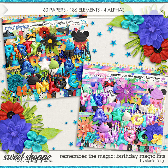 Remember the Magic: BIRTHDAY MAGIC- KIT COLLECTION by Studio Flergs