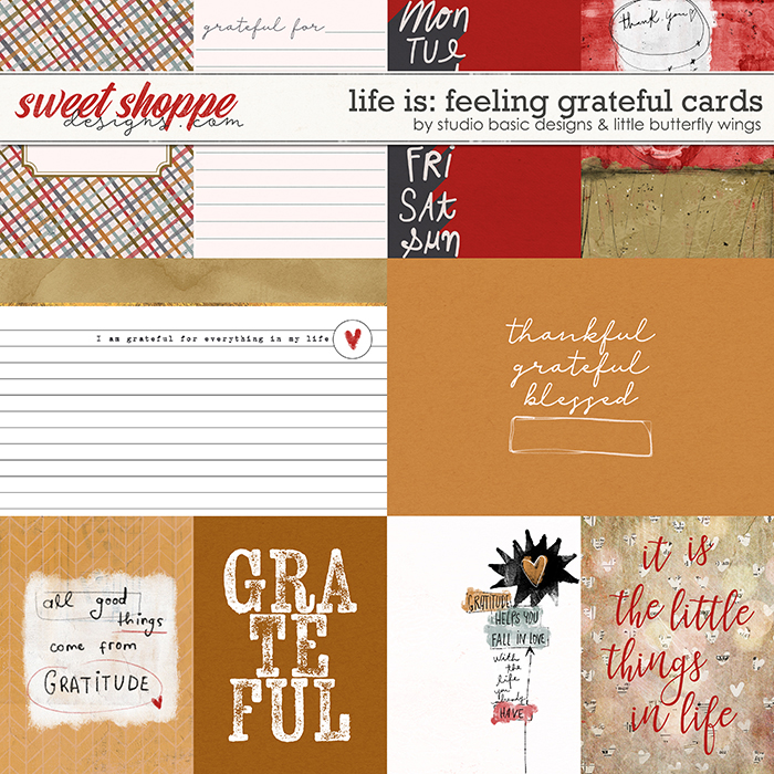 Life Is: Feeling Grateful Cards by Studio Basic and Little Butterfly Wings