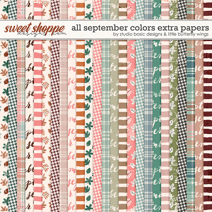 All September Colors Extra Papers by Studio Basic and Little Butterfly Wings