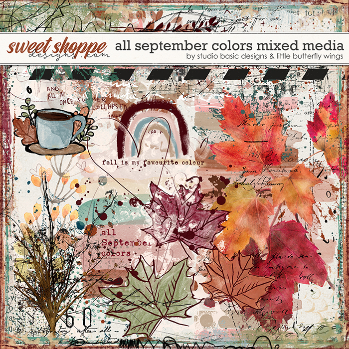 All September Colors Mixed Media by Studio Basic and Little Butterfly Wings