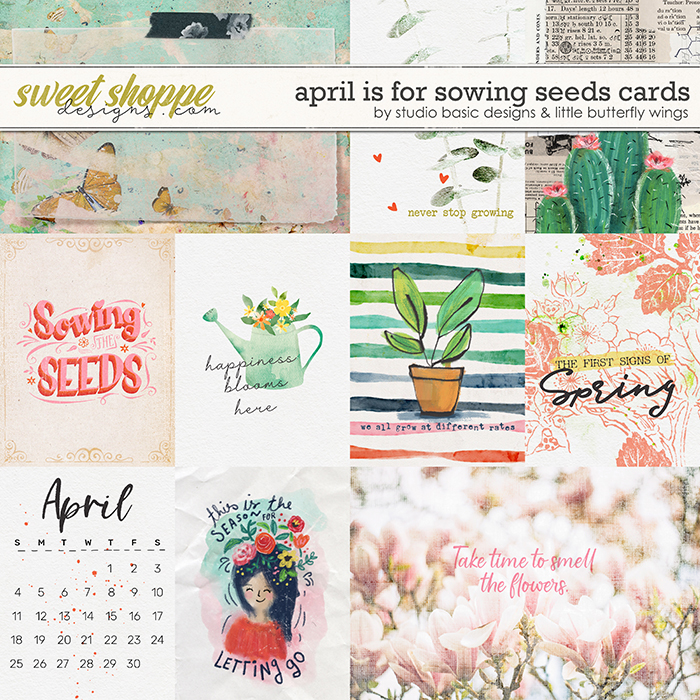 April Is For Sowing Seeds Cards by Studio Basic & Little Butterfly Wings