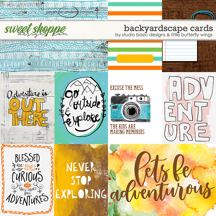 Backyardscape Cards by Studio Basic and Little Butterfly Wings