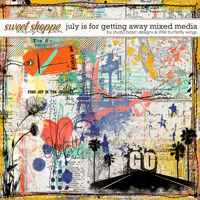 July Is For Getting Away Mixed Media by Studio Basic & Little Butterfly Wings