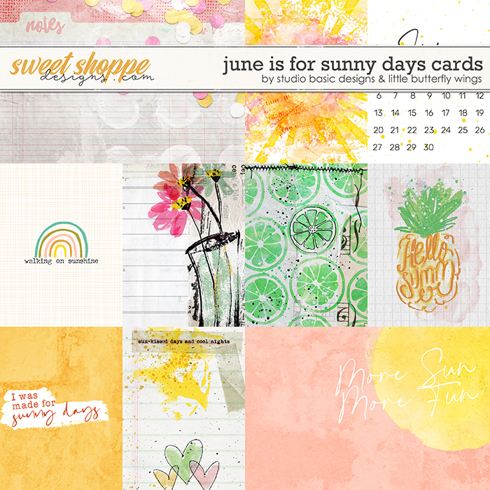 June Is For Sunny Days Cards by Studio Basic