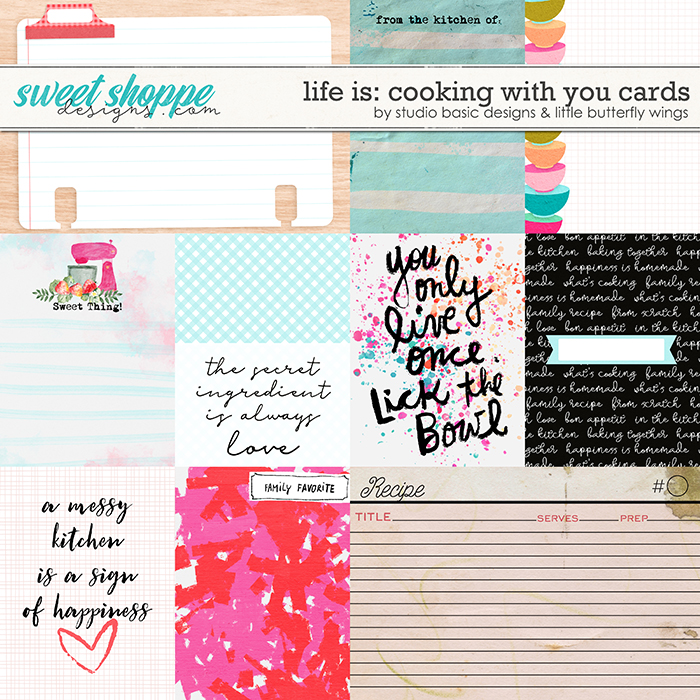 Life Is: Cooking With You Cards by Studio Basic and Little Butterfly Wings
