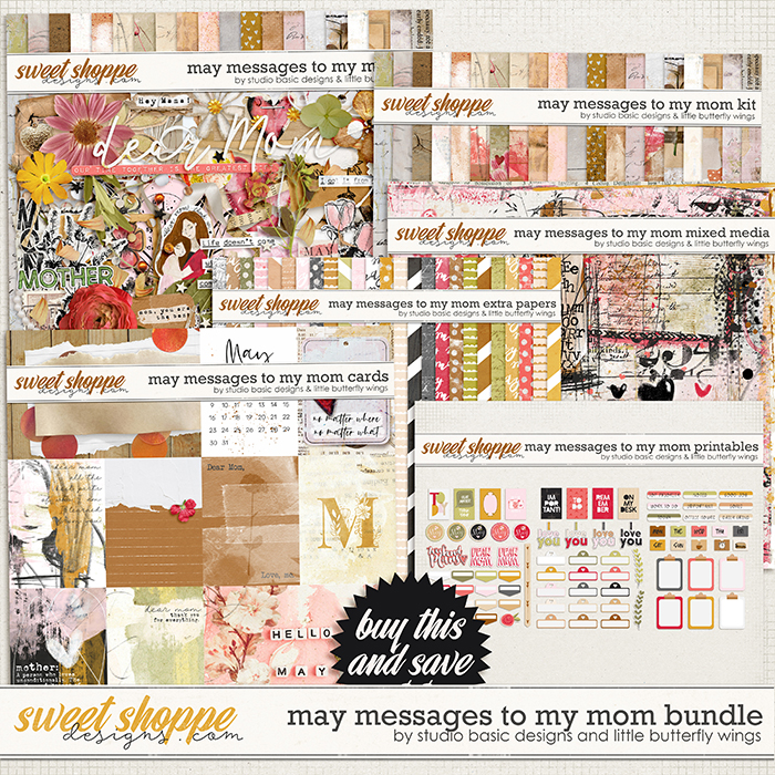 May Messages To My Mom Bundle by Studio Basic and Little Butterfly Wings