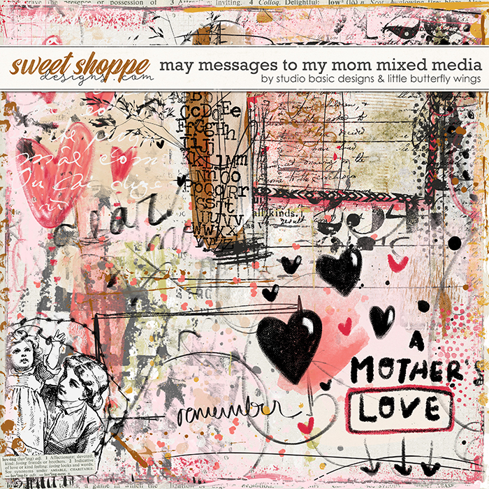 May Messages To My Mom Mixed Media by Studio Basic and Little Butterfly Wings