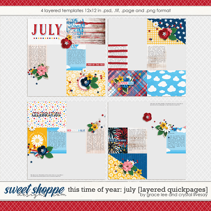 This Time of Year July: Quickpages by Crystal Livesay and Grace Lee