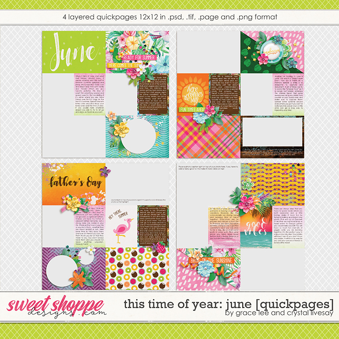 This Time of Year June: Quickpages by Grace Lee and Crystal Livesay