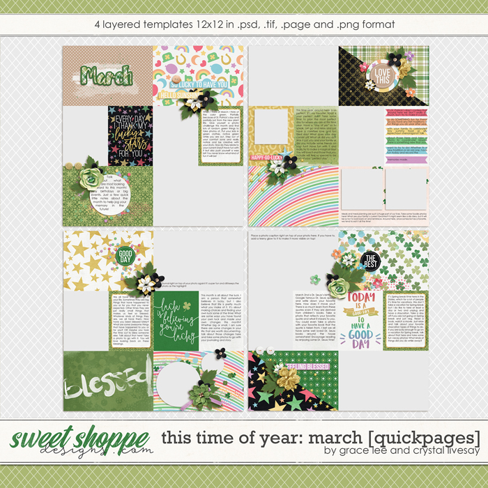 This Time of Year March: Quickpages by Grace Lee and Crystal Livesay