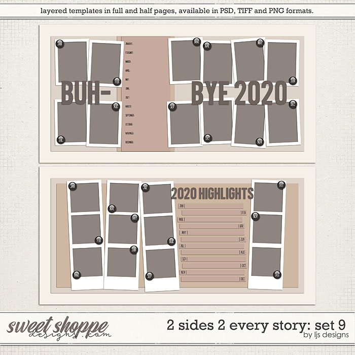 2 Sides 2 Every Story: Set 9 by LJS Designs