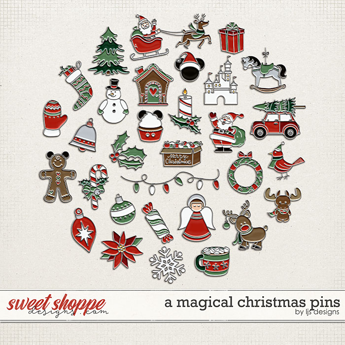 A Magical Christmas Pins by LJS Designs