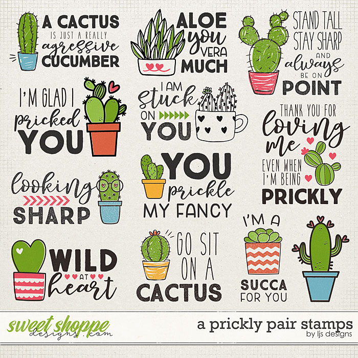 A Prickly Pair Stamps by LJS Designs