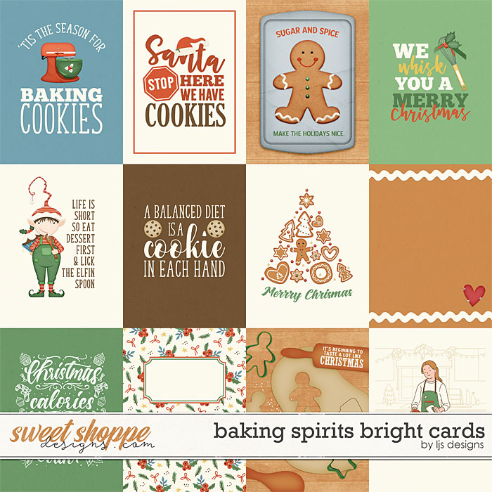 Baking Spirits Bright Cards by LJS Designs