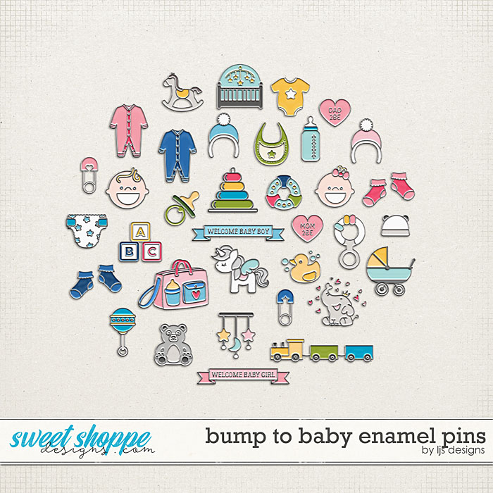 Bump To Baby Enamel Pins by LJS Designs