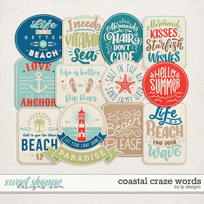 Coastal Craze Words by LJS Designs