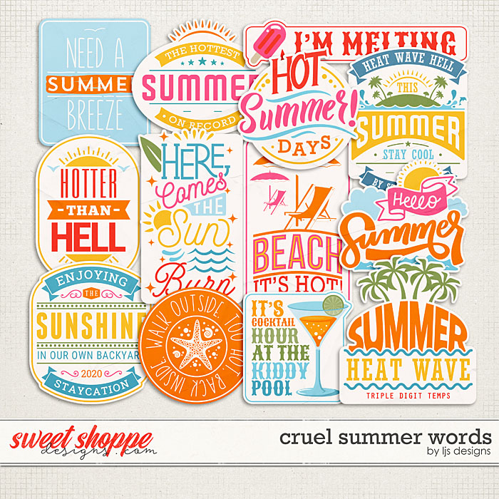 Cruel Summer Words by LJS Designs
