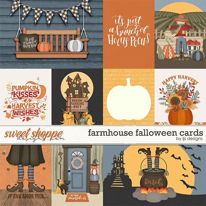 Farmhouse Falloween Cards by LJS Designs