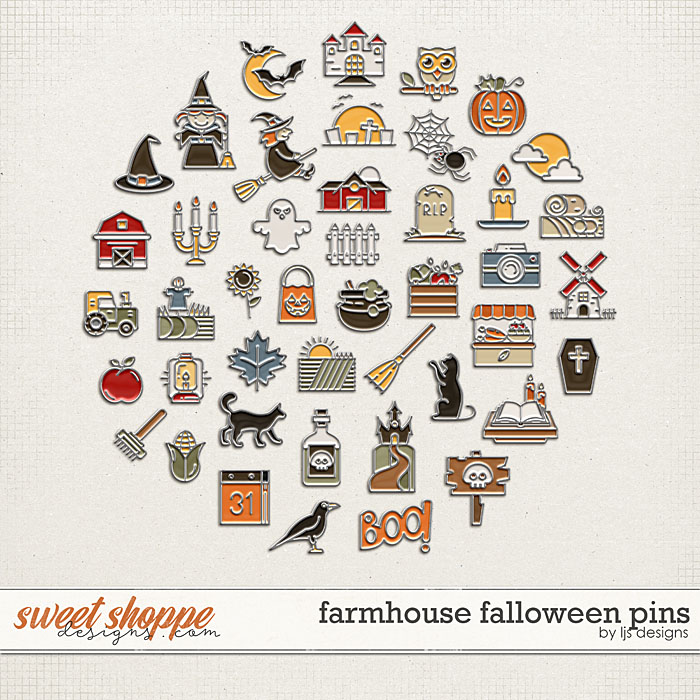 Farmhouse Falloween Pins by LJS Designs