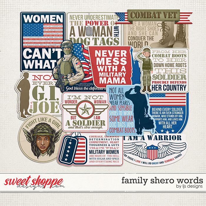 Family Shero Words by LJS Designs