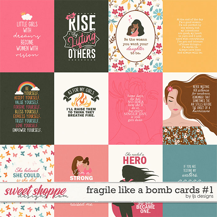 Fragile Like A Bomb Cards 1 by LJS Designs
