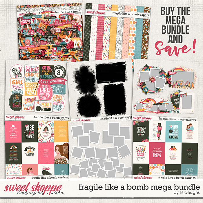 Fragile Like A Bomb Mega Bundle by LJS Designs