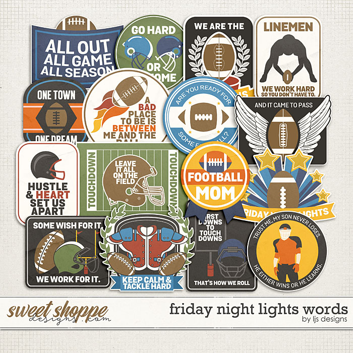 Friday Night Lights Words by LJS Designs