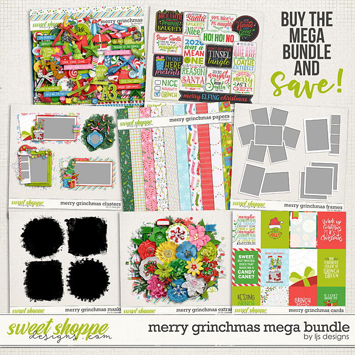Merry Grinchmas Mega Bundle by LJS Designs
