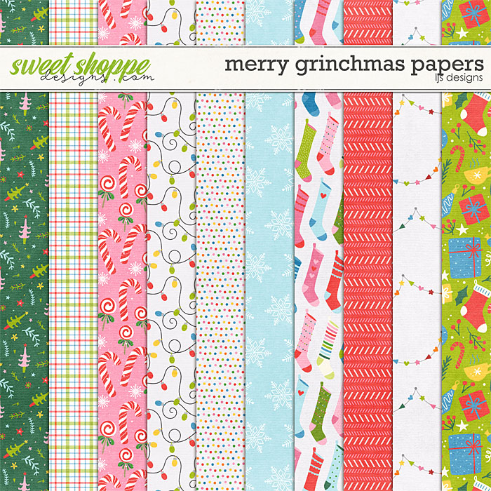Merry Grinchmas Papers by LJS Designs