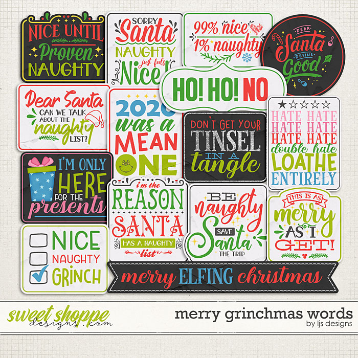 Merry Grinchmas Words by LJS Designs