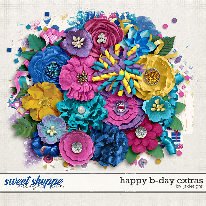 Happy B-day Extras by LJS Designs