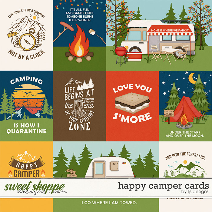 Happy Camper Cards by LJS Designs