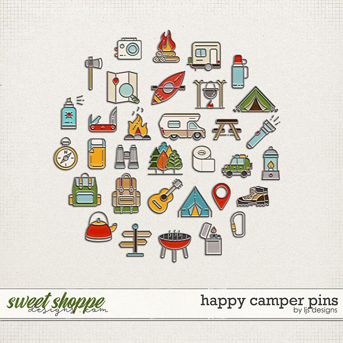 Happy Camper Pins by LJS Designs
