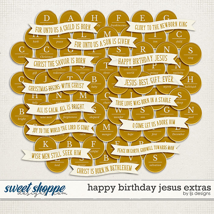 Happy Birthday Jesus Extras by LJS Designs