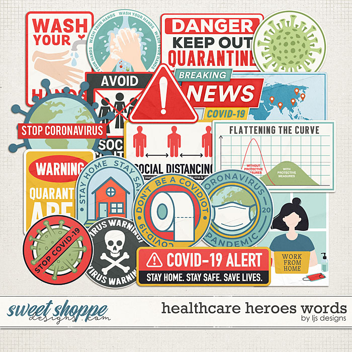 Healthcare Heroes Words by LJS Designs