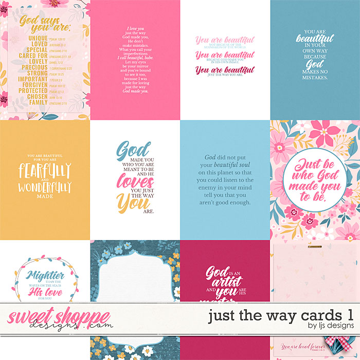 Just The Way Cards by LJS Designs