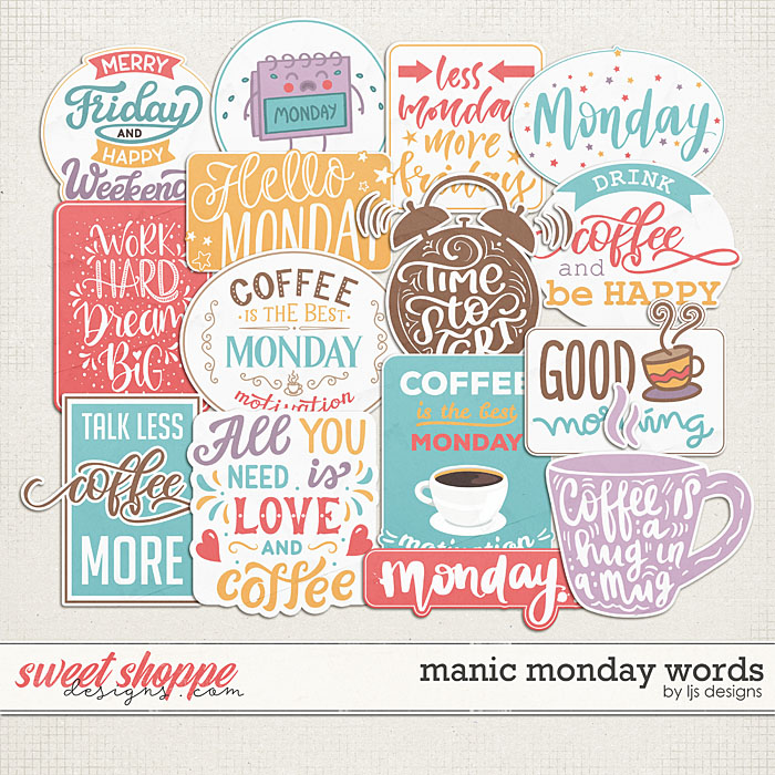 Manic Monday Words by LJS Designs