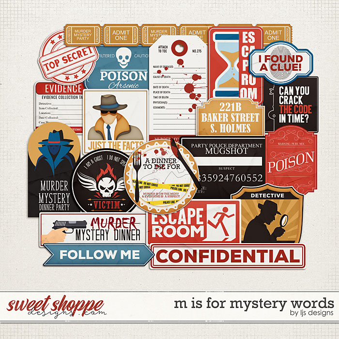 M Is For Mystery Words by LJS Designs