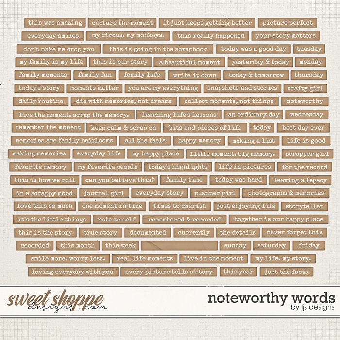 Noteworthy Words by LJS Designs