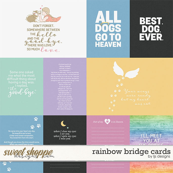 Rainbow Bridge Cards by LJS Designs