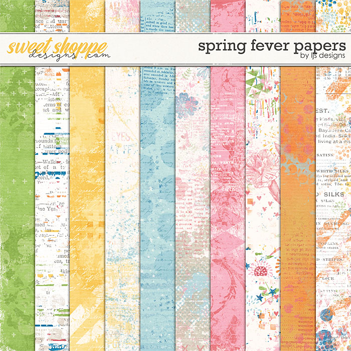 Spring Fever Papers by LJS Designs